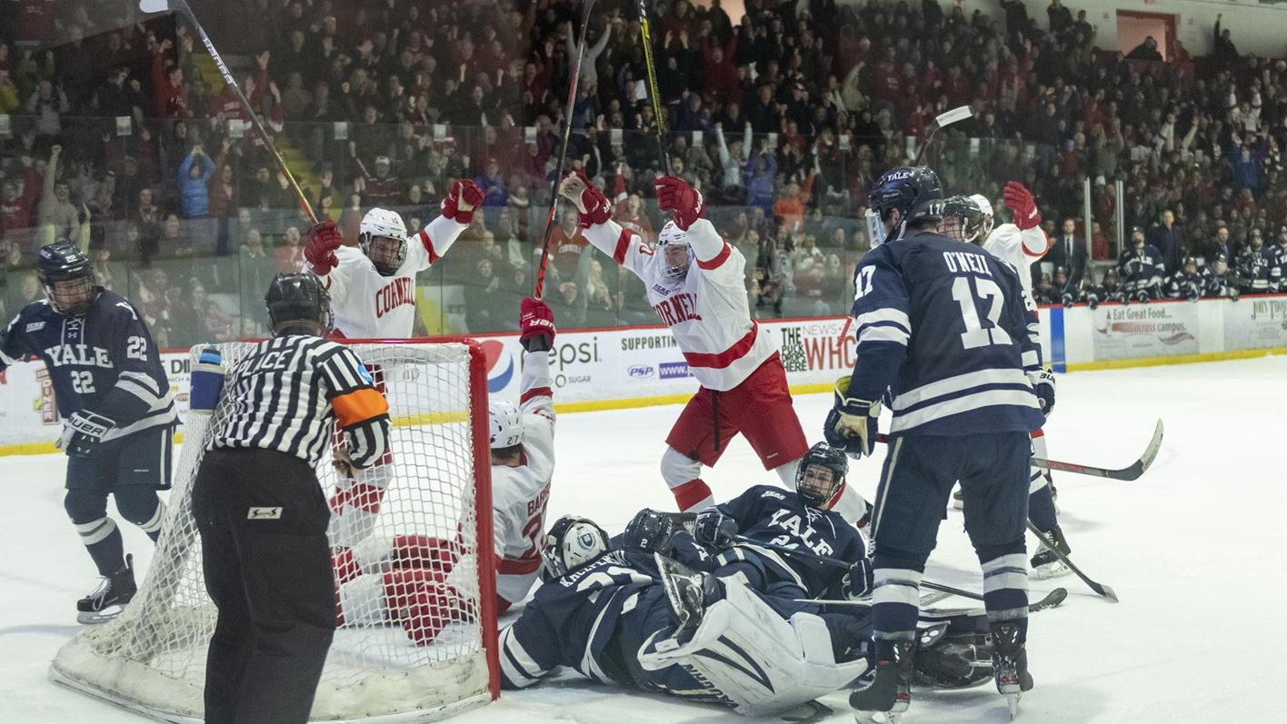 Barron notches hat trick, Cornell beats Yale 6-2