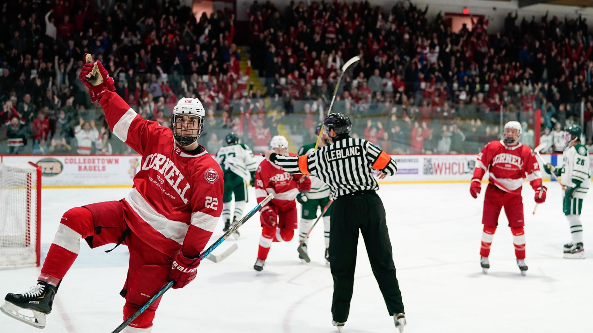 Cornell defeats Dartmouth, 3-2